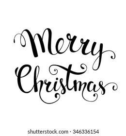 Original hand lettering Merry Cristmas. Illustration for Christmas posters, Christmas greeting cards, Christmas print and web projects. Raster version