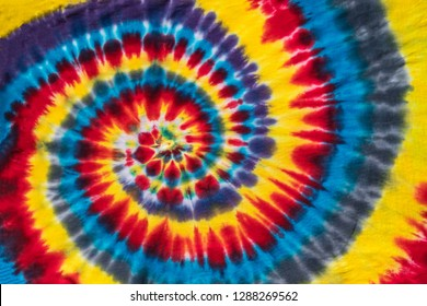 Original Handmade Colorful Abstract Psychedelic Tie Dye Swirl Design
