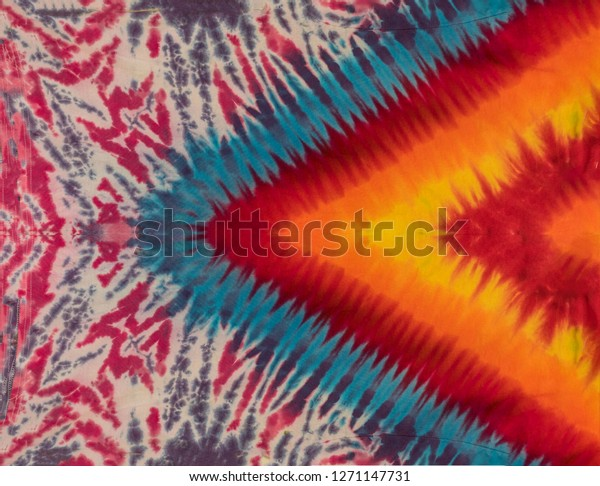 Original Handmade Colorful Abstract Psychedelic Tie Dye Shirt Design