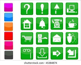 Original internet design icon set