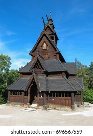 original medieval stave church in Oslo, Norway