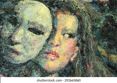 Original oil painting artwork on textured canvas
