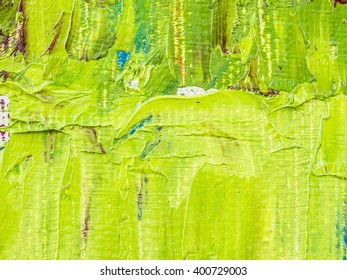 original oil painting brush strokes texture background, green background
