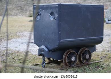 Original outage small grey metal minig truck