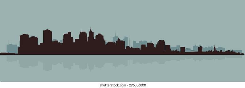 The original outline of the big city.
