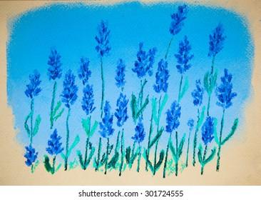 Original pastel painting on paper