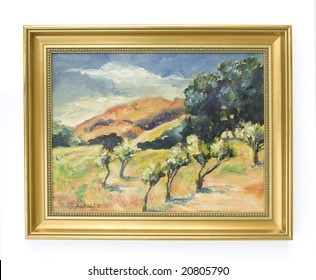 Original (photographer's) framed oil painting shot against a white background. Could be used as room decor.