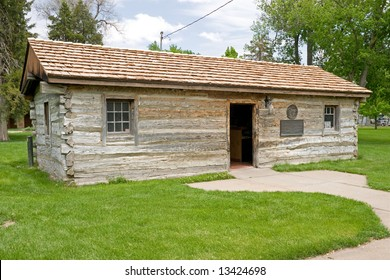 Original Pony Express Station in 1860-61 in Gothenburg, Nebraska, erected in 1854 on the Oregon Trail as a fur trading post and ranch house.  Moved to current location in 1931.