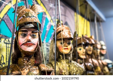 Original Pupo Siciliano (Sicilian puppets, Italy). The Sicilian puppets theatre is UNESCO Heritage.