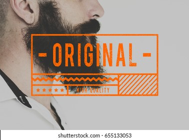 Original Quality Certified Guaranteed Stamp Graphic
