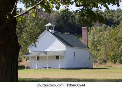 Original schoolhouse in Port Oneida rural historic district