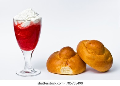 Original Sicilian Granita with Cream and Brioches
