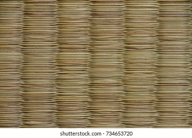 Original traditional Tatami Mat texture, called japanese Tatami Mat or Nippon Tatami Mat, Texture, Background, Screen saver or Wallpaper for traditional house in japan or judo, karate and martial arts