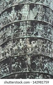 The original Vendome Column at the center of the Place Vendome