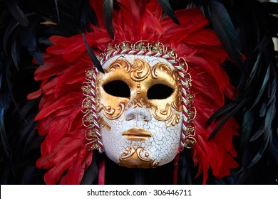 Original Venetian Mask Detail Closeup