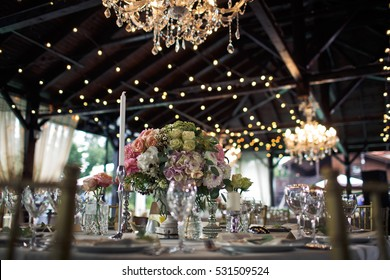 Original view of the wedding table