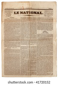 Original vintage French newspaper, dated 1833.