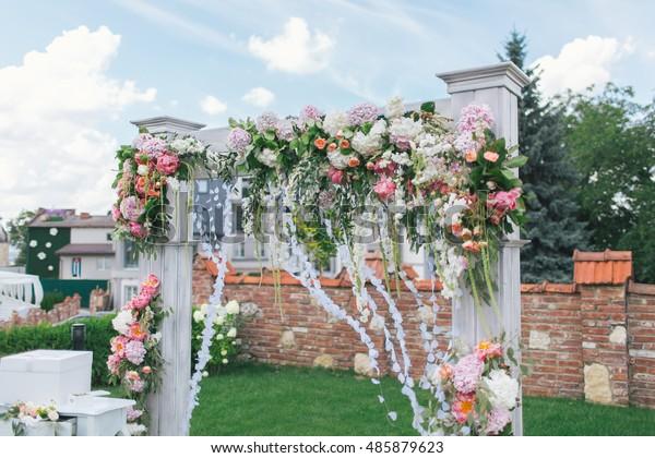 Original Wedding Decor Ideas Wedding Arch Stock Photo Edit