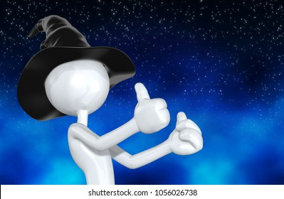 The Original Wizard 3D Character Illustration