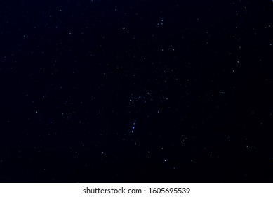 Orion constellation as it was late  December 2019 with a dim Betelgeuse.