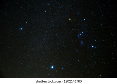 Orion and great triangle in winter
