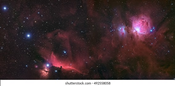 Orion molecular cloud complex cover the Horsehead Nebula the Orion Nebula and the Orion Belt