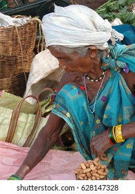 ORISSA,  INDIA - Nov 13 -Tribal woman poses for her portrait  on Nov 13, 2009, in Chatikona market, Orissa, India