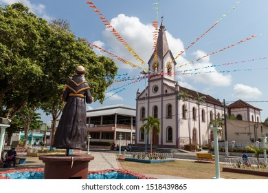 Oriximina/Para/Brazil - Sep 16, 2019: Parish of St. Anthony, patron of the city of Oriximina