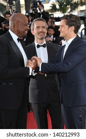 Orlando Bloom, Jerome Salle & Forest Whitaker at the closing awards gala of the 66th Festival de Cannes. May 26, 2013  Cannes, France