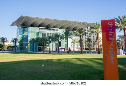 ORLANDO, FL - Feb 17 2017:Dr Phillips Center for the Perfoming Arts.Located in Downtown Orlando Florida on Feb 17 2017.