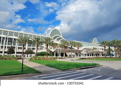 ORLANDO, FL - FEB 6: The Orange County Convention Center on International Drive on February 6, 2012 in Orlando. It offers 7M sq ft space and ranks as the second largest convention center in the US.