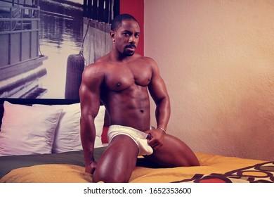 Orlando, FL - February 21, 2020: Male fitness model wears underwear from the brand C-IN2.