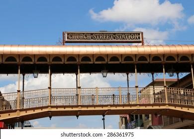 ORLANDO, FL - Historic Church Street.Located in Downtown Orlando Florida.