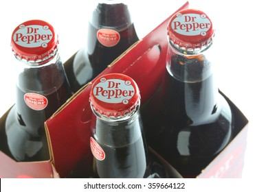 ORLANDO, FL - January 7, 2015:  The popular soft-drink Dr Pepper is now available sweetened with sugar rather than high fructose corn syrup.