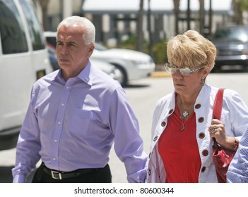 ORLANDO, FL - JULY 4:The parents of accused murderer Casey Anthony exits from the Orange County courthouse. Casey Anthony is accused of murdering her daughter Caylee Anthony in Orlando, Fl July 4, 2011.