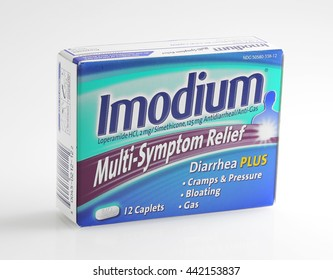 ORLANDO, FL - June 24, 2015:  Imodium is a popular over the counter medication for diarrhea and other intestinal aliments.