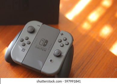 ORLANDO, FL - March 11, 2017: Nintendo Switch, the video game console for home or portable gaming.
