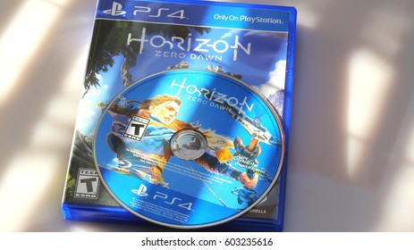 ORLANDO, FL - March 18, 2017: The Horizon Zero Dawn video game from developer Guerrilla Games has sold over 2.6 million units in the first two weeks after release, according to Sony.