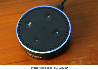 ORLANDO, FL - March 22, 2017:  Amazon has released the 2nd generation Echo Dot, a voice controlled life streaming device.  Priced at $49.99.