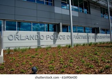 ORLANDO, FL - March 27 2017:Orlando Police Headquarters. Located in Orlando Florida on March 27 2017.
