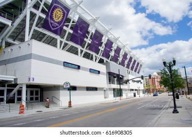 ORLANDO, FL - March 27 2017:Orlando City Soccer Stadium home of the Orlando City Lions. Located in Orlando Florida on March 27 2017.