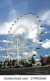 ORLANDO, FL - MAY 2: The Orlando Eye, Orlando's newest attraction, on May 2, 2015, two days before opening to the public.  It offers a view of Orlando from 400 feet in the air.