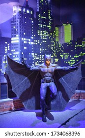 ORLANDO, FL – NOV 24: Batman at Madame Tussauds Wax Museum in Orlando, Florida, on Nov 24, 2019.  It displays waxworks of famous and historical figures, popular film and television characters.