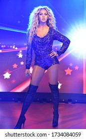 ORLANDO, FL – NOV 24: Beyonce at Madame Tussauds Wax Museum in Orlando, Florida, on Nov 24, 2019.  It displays waxworks of famous and historical figures, popular film and television characters.