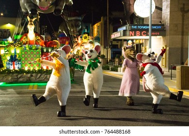 ORLANDO, FL - November 16, 2017: Merry and Mayhem combine as the Minions join Santa Claus in the all-new Universal's Holiday Parade featuring Macy's.