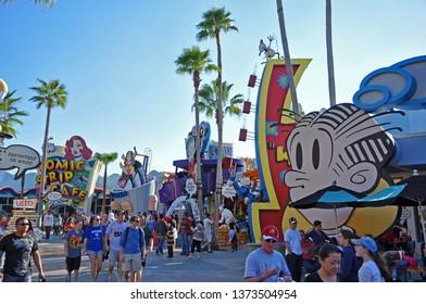 ORLANDO, FL, USA - DEC. 17, 2010: Toon Lagoon in Islands of Adventure of Universal Orlando, Florida, USA.