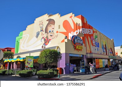 ORLANDO, FL, USA - DEC. 17, 2010: Jimmy Neutron`s Nicktoon Blast in Universal Studios Florida, Orlando, Florida, USA.