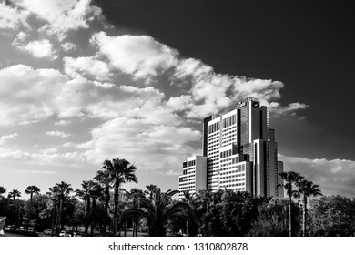 ORLANDO, FL, USA - MARCH 10, 2008: The Peabody Hotel on International Drive in Orlando, USA on March 10, 2008. In 2013 it was sold for $717 million and renamed as Hyatt Regency Orlando.
