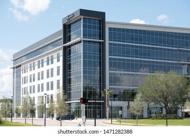 Orlando, FL / USA - May 11, 2019: Signature Flight Support US Corporate Headquarters in Lake Nona Florida