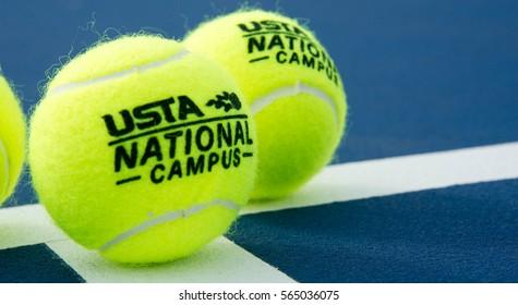 ORLANDO, FL - USTA National Campus Tennis Ball. United States Tennis Association National Campus. Located in Orlando Florida.